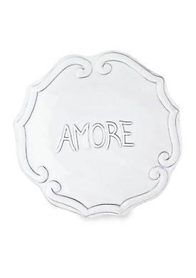 Incanto White Amore Plate
