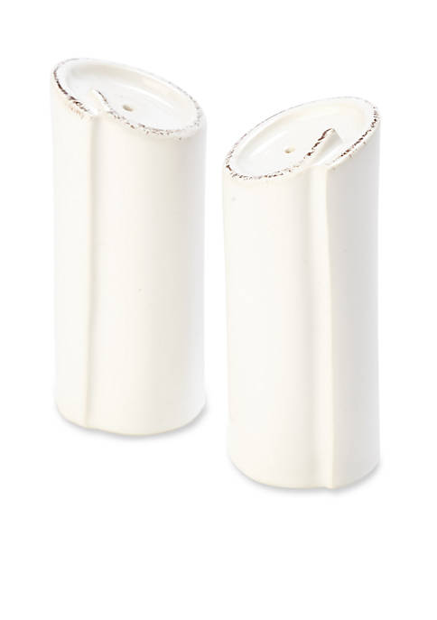 Lastra White Salt and Pepper Shakers