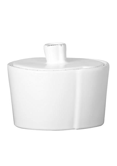 Lastra White Sugar Bowl