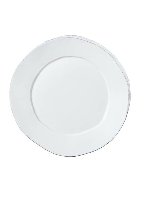 Lastra White Round Platter