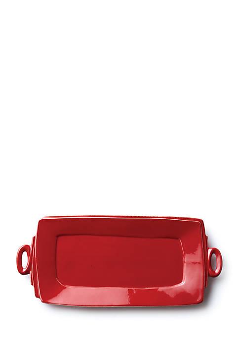 Lastra Red Handled Rectangular Platter