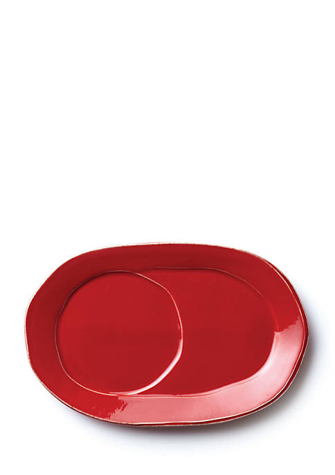 Lastra Red Oval Tray