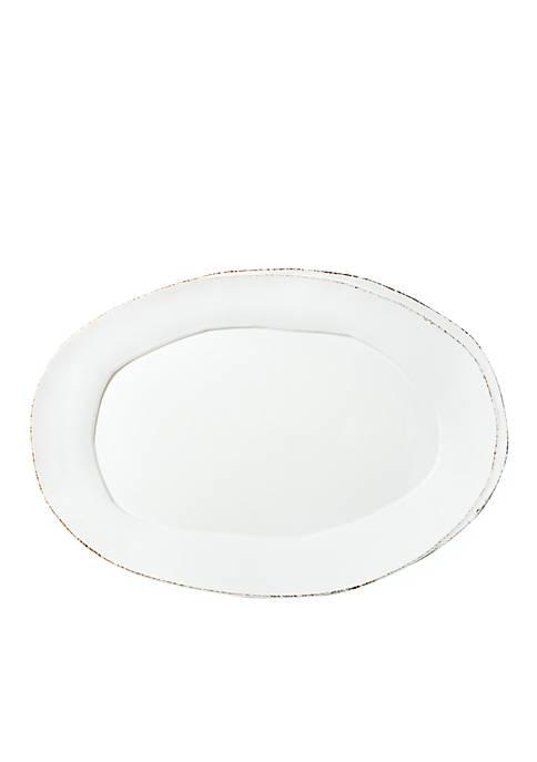 Vietri Lastra White Oval Platter