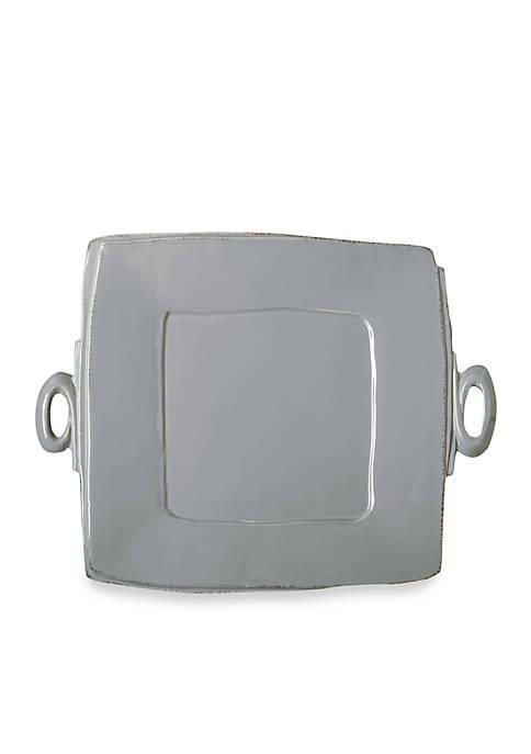 Lastra Gray Handled Square Platter