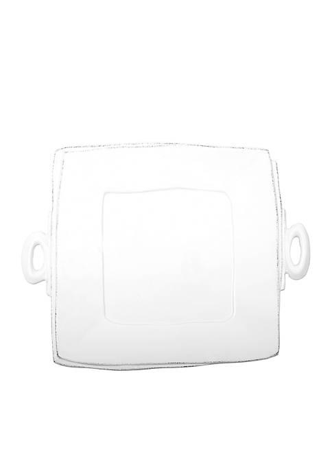 Lastra White Handled Square Platter