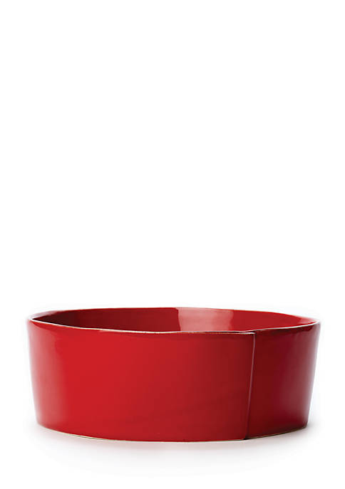 Lastra Red Large Serving Bowl