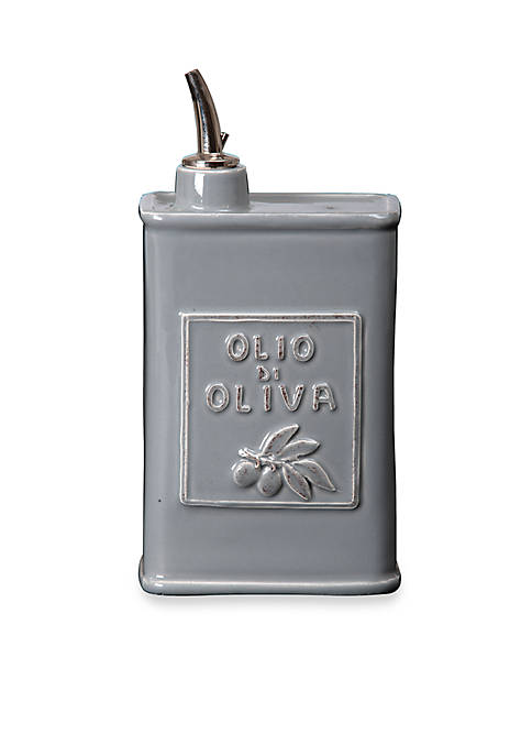 Vietri Lastra Gray Olive Oil Can