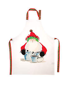 Old St. Nick Santa Apron 33-in. x 27-in.