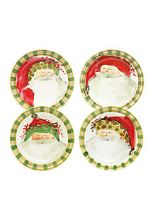 Old St. Nick Plate Set of 4