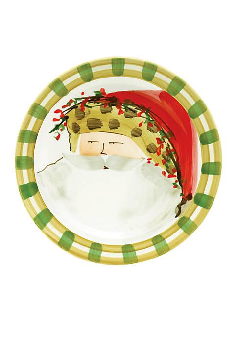 Old St. Nick Animal Hat Santa Round Salad Plate 8.25-in.