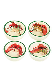 Old St. Nick Assorted Condiment Bowl, Set of 4