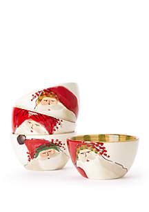 Old St. Nick Assorted Cereal Bowls - Set of 4