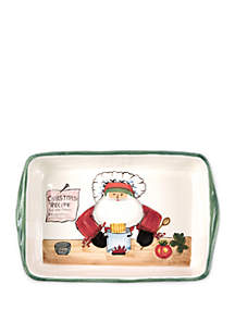Old St. Nick Rectangular Baker with Chef