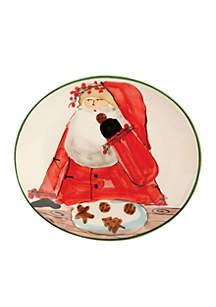 Vietri Old St. Nick Santa Cookie Plate 8.25-in. x 7.5-in.