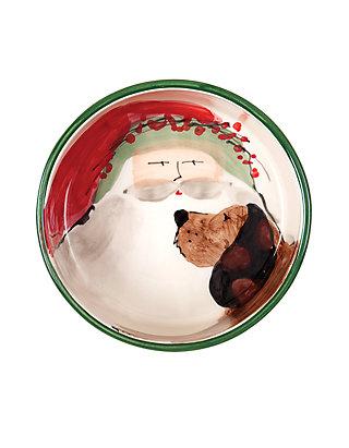 Nick Small Dog Bowl Vietri Old St Christmas Ceramic Feeding Bowl