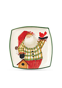 Old St. Nick Square Platter