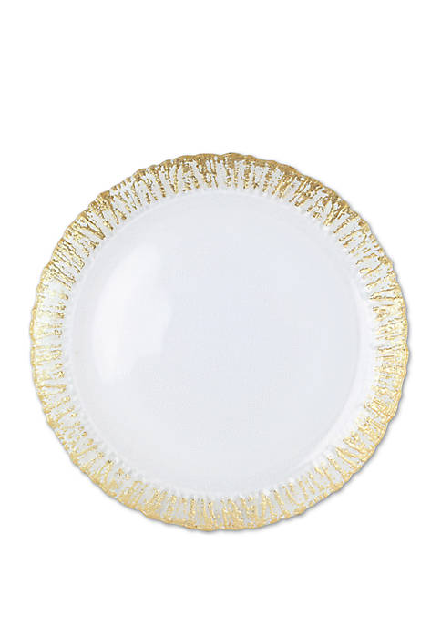 Rufolo Glass Gold Round Platter