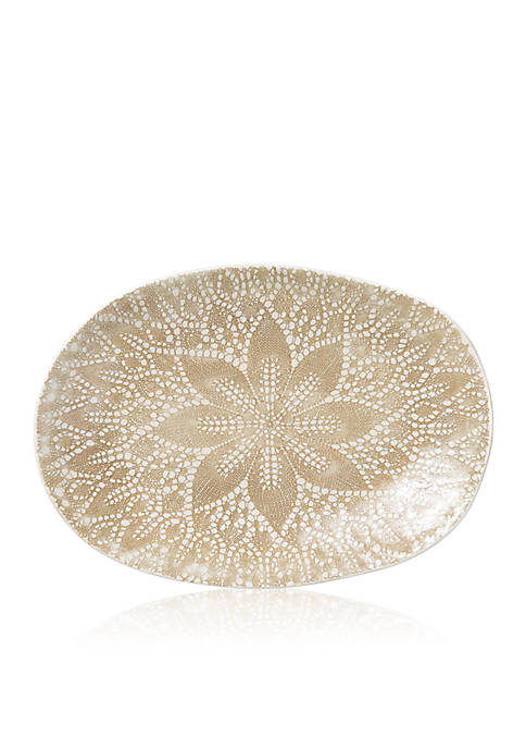 Vietri Lace Small Oval Platter