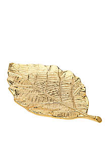 Gold Finish Leaf Tray