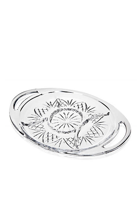 Godinger Dublin Oval Section Handled Serving Tray