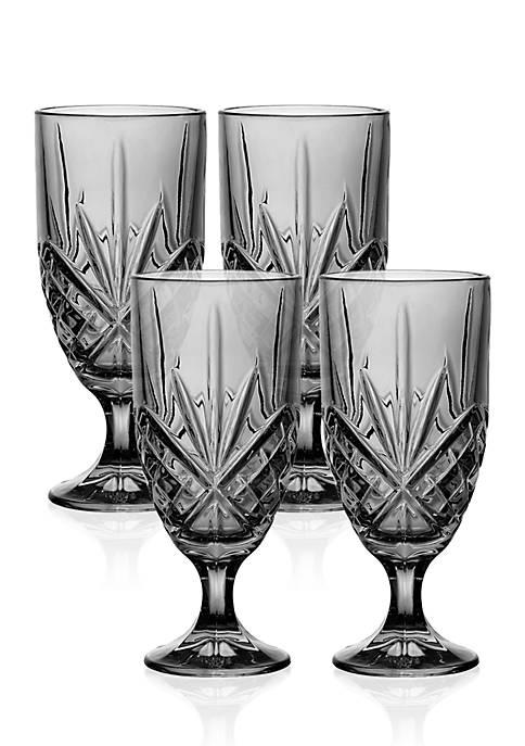 Godinger Dublin Smoke Ice Tea Glasses, Set of
