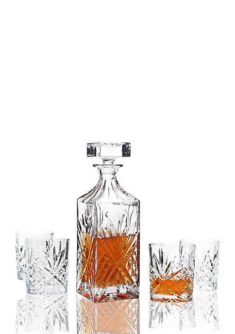 Godinger Dublin Whiskey Decanter and Double Old Fashion