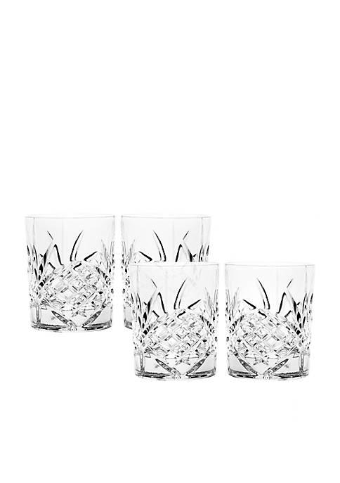 Godinger Dublin Set of 4 Old Fashioned Glasses