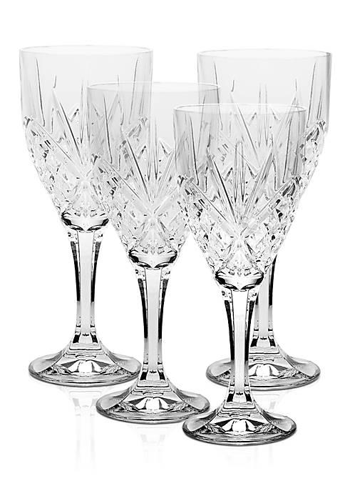Godinger Dublin Set of 4 Wine Glasses