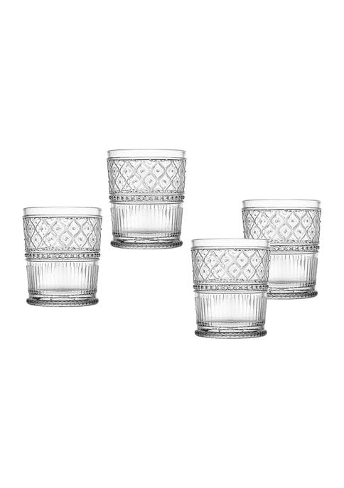 Claro Set of 4 Double Old Fashioned Glasses