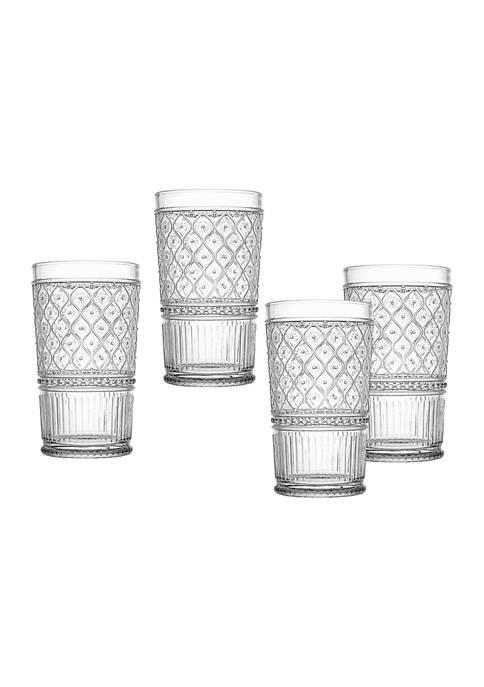 Claro Set of 4 Highball Glasses
