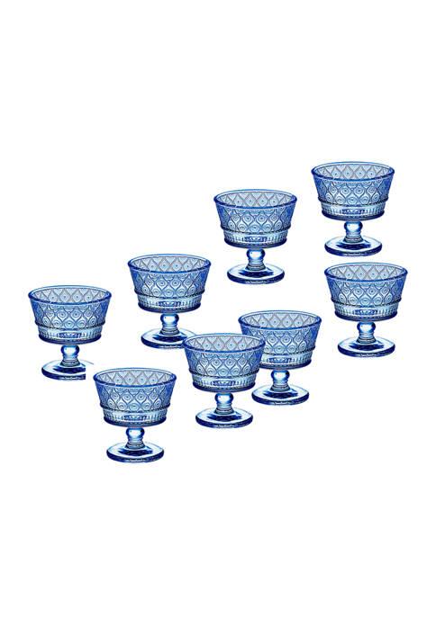 Godinger Blue Claro Set of 8 Taster Glasses