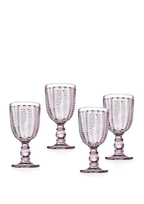 Godinger Set of 4 Wine Glasses