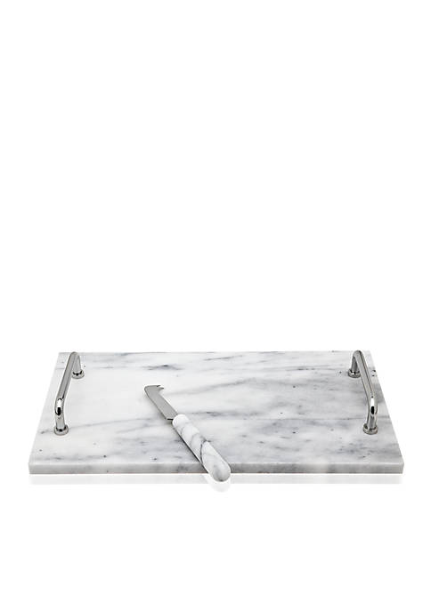Godinger La Cucina White Marble Cheese Board with
