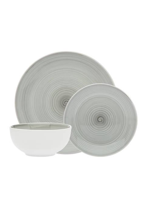 Godinger Spiral Gray 12-Piece Dinnerware Set
