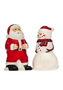Santa Snowman Salt and Pepper Set