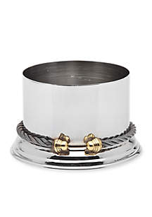 Godinger Cable Stainless Steel Wine Coaster