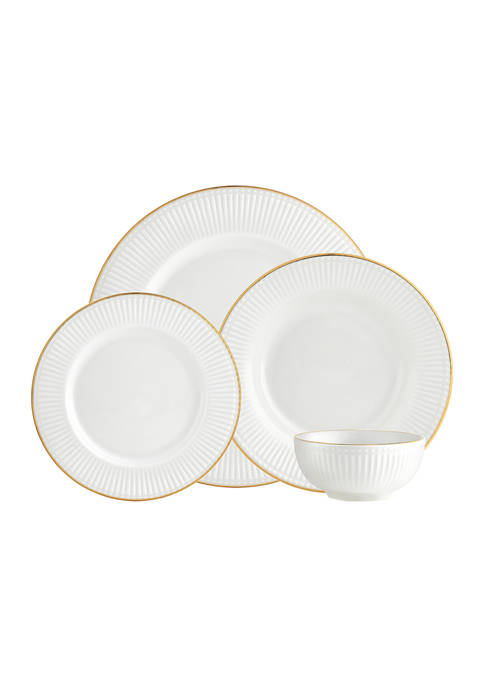 Godinger Republique Gold 16-Piece Dinnerware Set