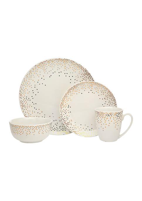 Godinger Alora Glam Dot 16-Piece Dinnerware Set