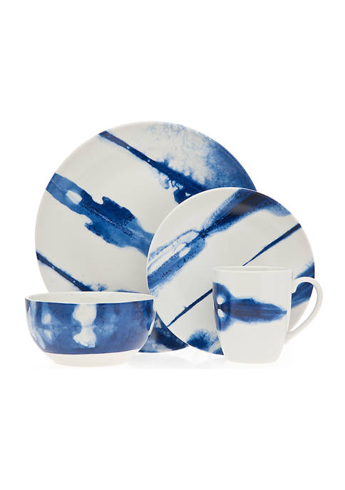 Godinger Cielo Blue 16-Piece Dinnerware Set