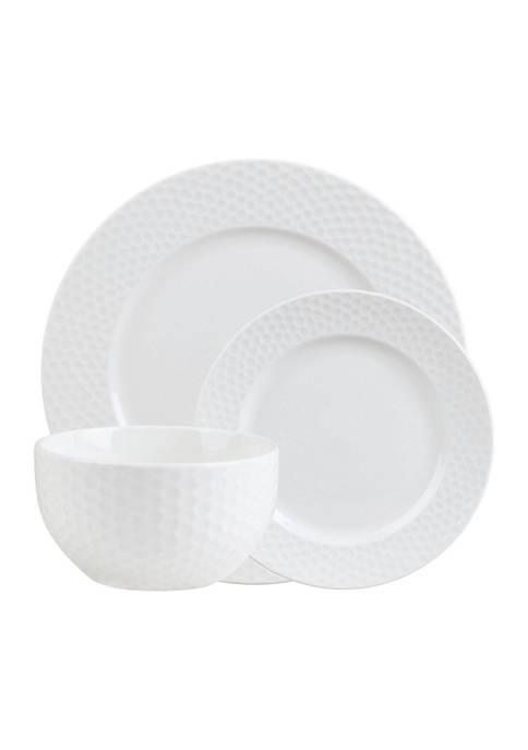 Godinger Fossette 18-Piece Dinnerware Set