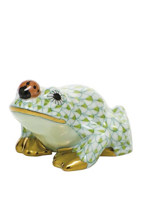 Herend Frog with Ladybug