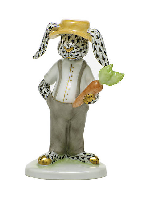 Herend Farmer Bunny Decorative Accent