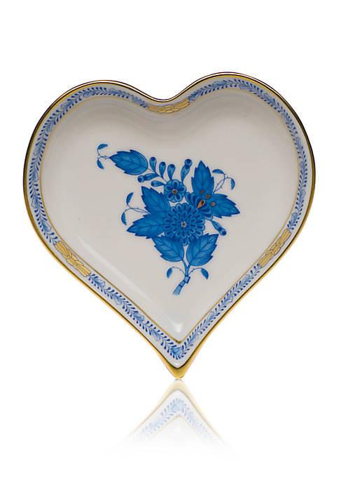 Herend 4-in. x 4-in. Small Heart Tray