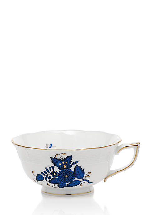 Herend Chinese Bouquet Black Sapphire Tea Cup