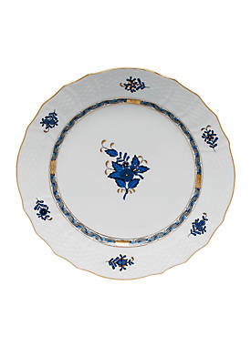 Chinese Bouquet Black Sapphire Service Plate