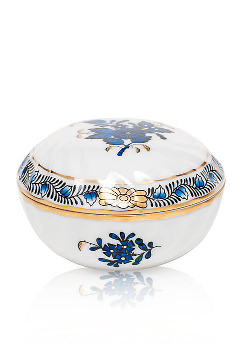 Herend Chinese Bouquet Black Sapphire Ring Box