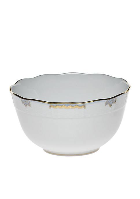Herend Princess Victoria Light Blue Round Bowl