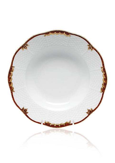 Herend Brown Rim Soup Plate