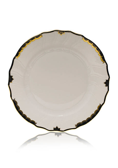Herend Black Dinner Plate