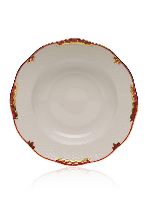 Herend Pink Rim Soup Plate